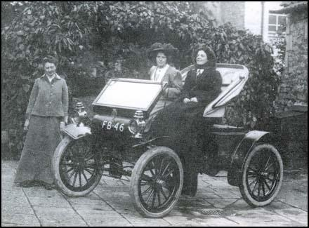 Mary Blathwayt with her father's car.