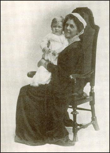 Mary Gladstone Drew with her grandson Patrick