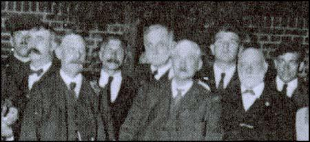 Councillors after being released from prison. Edgar Lansbury is third from right.