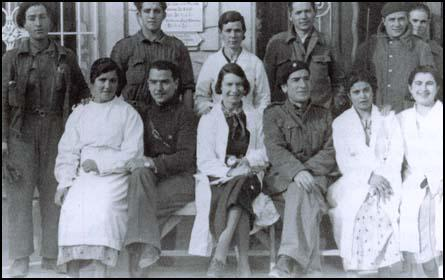 Penny Phelps with the staff at Quintanar (1937)