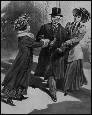 Vera Wentworth and Jessie Kenney attacking Herbert Asquith in September 1909