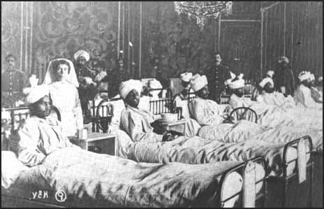 Soldiers from the Indian Army in the Royal Pavilion Hospital.