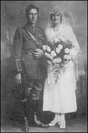 The marriage of Lieutenant George Smith and Lilian Evans
